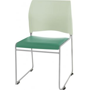 Cafetorium Stacking Chair - Custom Colors, Padded Seat