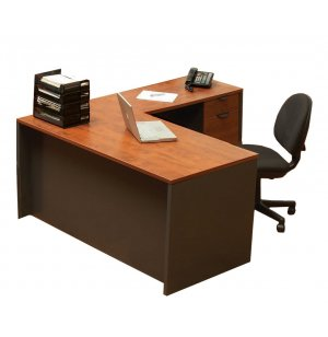 School Office L-Shaped Desk - Right