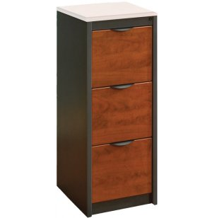 Counter-Height 3-Drawer Vertical File Cabinet - No Top