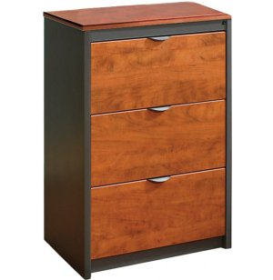 Counter-Height 3-Drawer Lateral File Cabinet - No Top