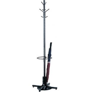 Metal Coat Rack Tree with 8 Hooks and Umbrella Stand