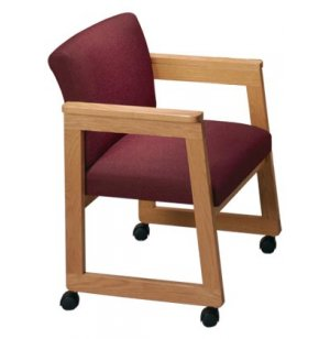 Tapered Arm Chair with Casters - Gr. 3 Fabric