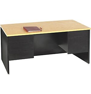 Double Pedestal Teachers Desk - Panel Ends