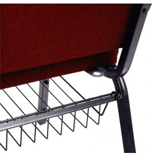 Underseat Removable Book Rack for Chapel Chairs