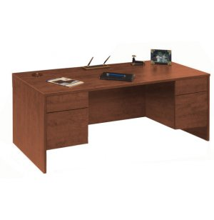 Managerial Desk - 3/4 Pedestal