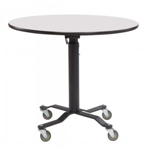 Round Cafe Time II Table- Whiteboard, MDF, ProtectEdge