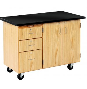 Mobile Instructors Desk, Flat Top