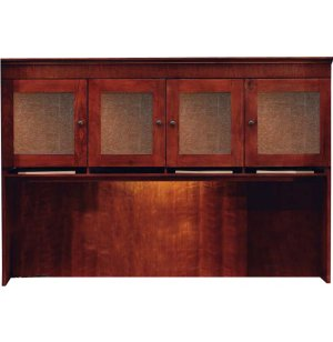 Del Mar Hutch with Crackle Glass