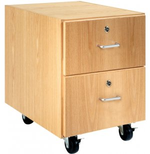Wooden Mobile Pedestal with 2 Drawers