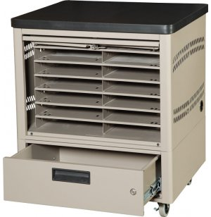 12-Unit Netbook Cabinet Cart w/3