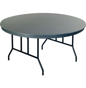 Dynalite Lightweight Round Plastic Folding Table
