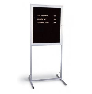 Double Pedestal Enclosed Letter Board