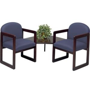 Arm Chairs with Corner Table - Upgraded Fabric