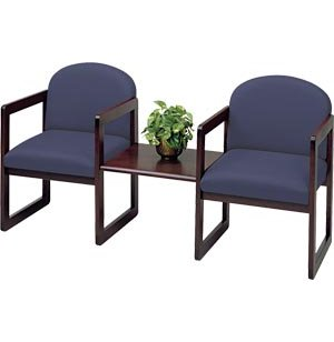 Arm Chairs with Center Table - Upgraded Fabric