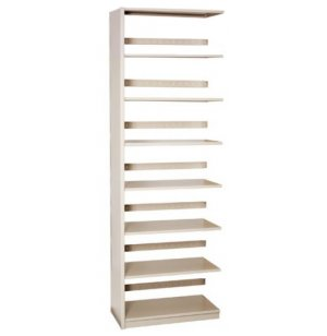 Single-Faced Steel Library Shelving - Adder, 6 Shelves