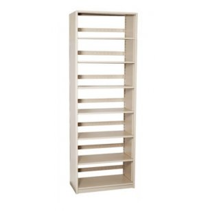 Single-Faced Steel Library Shelving - Starter, 6 Shelves