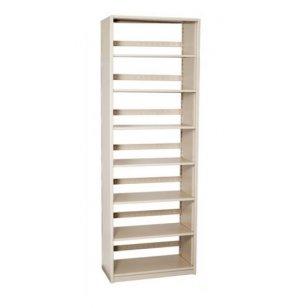 Single-Faced Steel Library Shelving - Starter, 6 Shelves