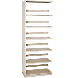 Single-Faced Steel Library Shelving - Adder, 5 Shelves