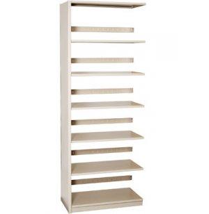 Single-Faced Steel Library Shelving - Adder, 5 Shelves