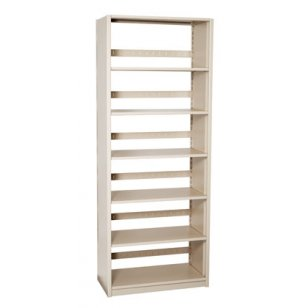 Single-Faced Steel Library Shelving - Starter, 5 Shelves