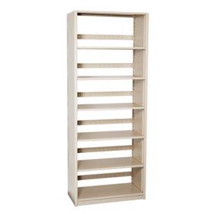 Single-Faced Steel Library Shelving - Starter, 5 Shelves