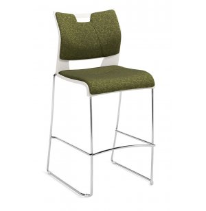 Duet Bar Stool with Upholstered Seat and Back