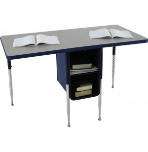 Adjustable Height Double School Desk