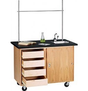 Mobile Demo Table with Drawers