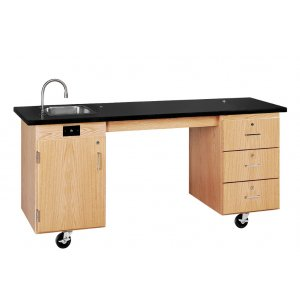 ADA Mobile Lab Station with Sink and Rods