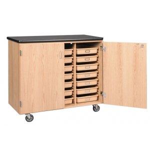 Mobile Tote Tray Storage