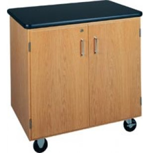 Mobile Storage Cabinet with Laminate Top