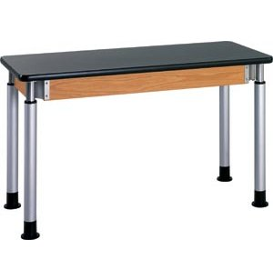 Adjustable Height Lab Table with Laminate Top