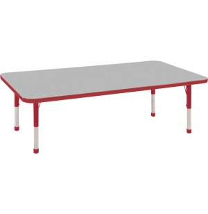 ECR4Kids Adjustable Rectangular Classroom Table