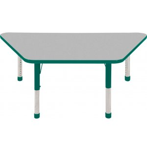 ECR4Kids Adjustable Height Trapezoid Classroom Table