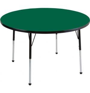 ECR4Kids Adjustable Height Round Classroom Table