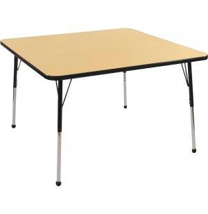 ECR4Kids Adjustable Height Square Classroom Table