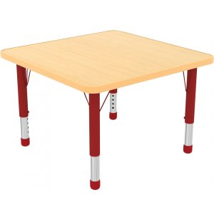 ECR4Kids Adjustable Height Square Classroom Table