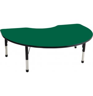 ECR4Kids Adjustable Kidney Shaped Classroom Table