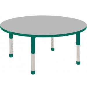 ECR4Kids Adjustable Height Round Classroom Table