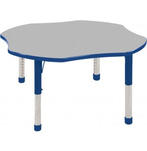 ECR4Kids Adjustable Height Clover Classroom Table