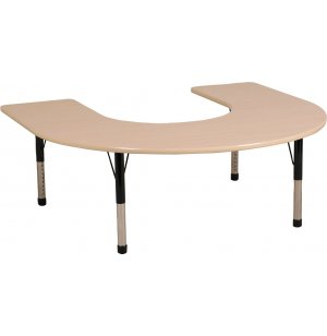ECR4Kids Adjustable Height Horseshoe Classroom Table
