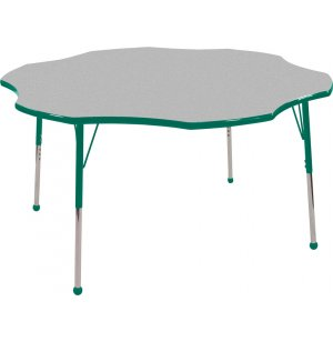 ECR4Kids Adjustable Height Flower Classroom Table