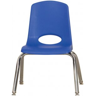 Poly Classroom Chair with Ball Glides - 6-Pack