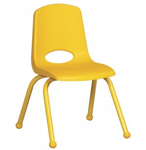 ECR Poly Classroom Chair - Colored Legs