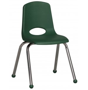 ECR Poly Classroom Chair - Chrome Legs