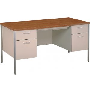 Steel Executive Double-Pedestal Teachers Desk