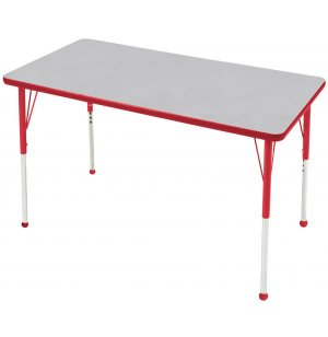 Edu Edge Rectangle Activity Table with Ball Glides