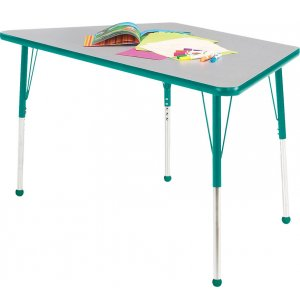 Educational Edge Trapezoid Activity Table w/BallGlides