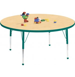 Educational Edge Round Activity Table with Ball Glides