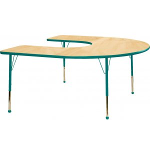 Educational Edge Horseshoe Table w/ Ball Glides